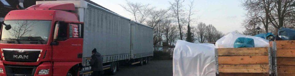 Beladung Hilfsgütertransport Februar 2020