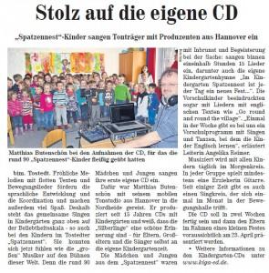 Wochenblatt 20150328 Spatzennest CD